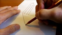 How to Draw 3D Art - Easy Line Paper Trick - Dailymotion Video