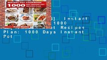 [NEW RELEASES]  Instant Pot Cookbook: 1000 Day Instant Pot Recipes Plan: 1000 Days Instant Pot