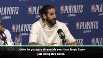 We can't stop Harden making threes- Rubio