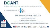 Webinaire DCANT #20 - Les Bases Adresse Locales (BAL)