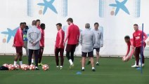 Barcelona train ahead of UCL quarter-finals second leg against Manchester United