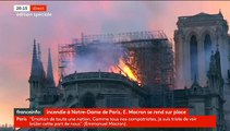 Violent incendie en cours sur le toit de la Cathédrale Notre Dame de Paris - La flèche s'est effondrée un peu avant 20h