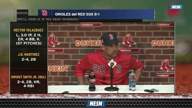 Alex Cora Looking For Improvements To Sox's Pitching After Loss Vs. Orioles