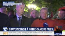 """Commandant de la brigade des sapeurs-pompiers de Paris: """"On peut considérer que les deux tours de Notre-Dame sont sauvées"""""""