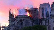 Fire ravages Notre-Dame cathedral in Paris