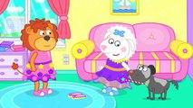 Lion de la Famille de Fantaisie Coiffure de dessin animé pour Enfants