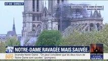 """""""C'est comme s'il avez plu des cendres."""" Notre journaliste a pu accéder au parvis de Notre-Dame et nous livre son ressenti"""
