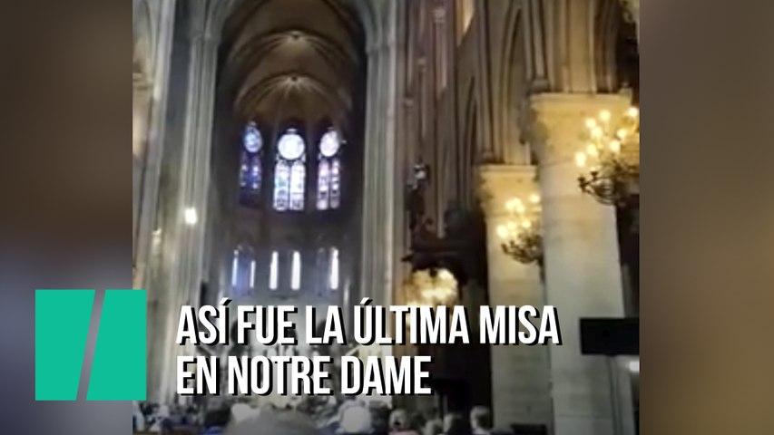 Así fue la última misa en Notre Dame