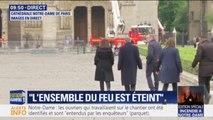 La maire de Paris Anne Hidalgo arrive à Notre-Dame pour constater les dégâts