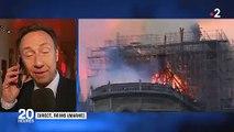 Spéciale Notre Dame: Stéphane Bern au bord des larmes en direct sur France 2 en voyant les images de l'incendie