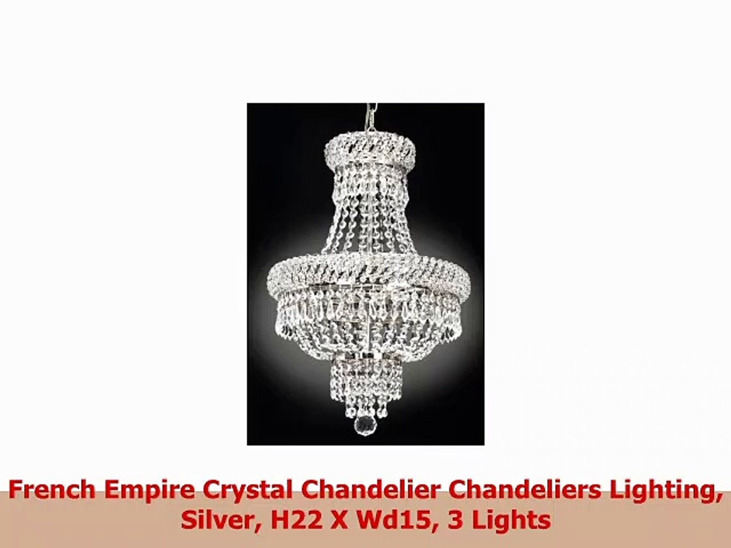 French Empire Crystal Chandelier Chandeliers Lighting Silver