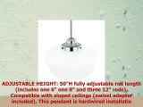 Light Society Portola Schoolhouse Pendant Light Satin Nickel with White Opal Glass Shade