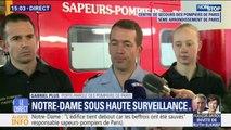 """Notre-Dame: les sapeurs-pompiers expliquent que """"l'édifice tient debout car les deux beffrois ont été sauvés"""""""
