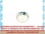 Frosted Glass Chrome Flush Mount Ceiling Light  Home Lighting  12 Diameter Bright White