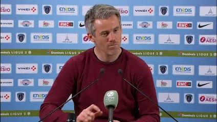La réaction de Mickaël Landreau après Paris FC - FC Lorient (2-2) 18-19
