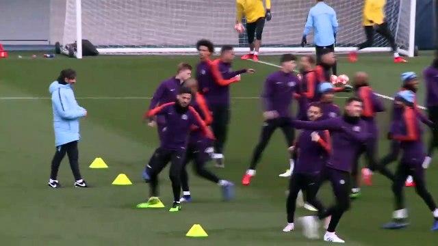 Manchester City prepare for their UCL quarter-final 2nd leg against Tottenham