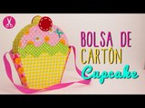 Bolsa de Cartón y Tela - Bolsa en forma Cupcake - Sin Coser - DIY Cartonaje   Catwalk