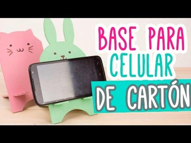 Base para Celular/Móvil de Cartón muy Kawaii ❤ | Porta Celular Manualidades ✄ | Catwalk