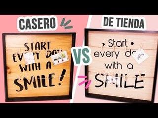 """Decora tu cuarto  CUADRO """"CASERO VS DE TIENDA"""" ¿Cuál ES MEJOR? RETO DIY ✂️ ❤️ CATWALK"""