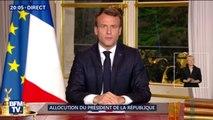 Retrouvez l'intégralité de l'allocution d'Emmanuel Macron sur l'incendie de Notre-Dame de Paris