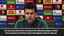(Subtitled) 'Other players have to step up' with no Kane says Poch