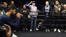 Terence Crawford and Amir Khan work out ahead of title fight