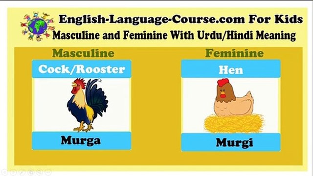 Learn more than 100 Masculine and Feminine Gender with List