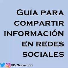 Guía para compartir información en redes sociales