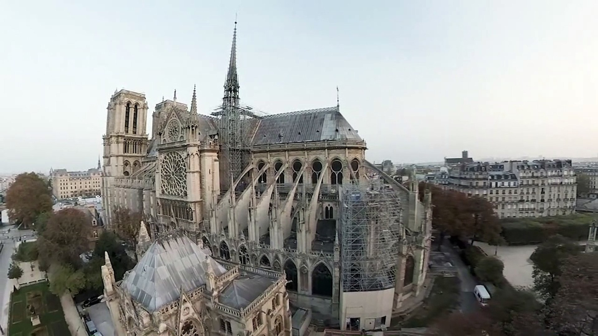 Drone Shows Glory Of Notre Dame Cathedral Before Fire Video