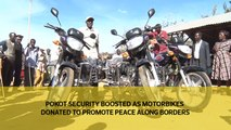 Pokot security boosted as motorbikes donated to promote peace along borders