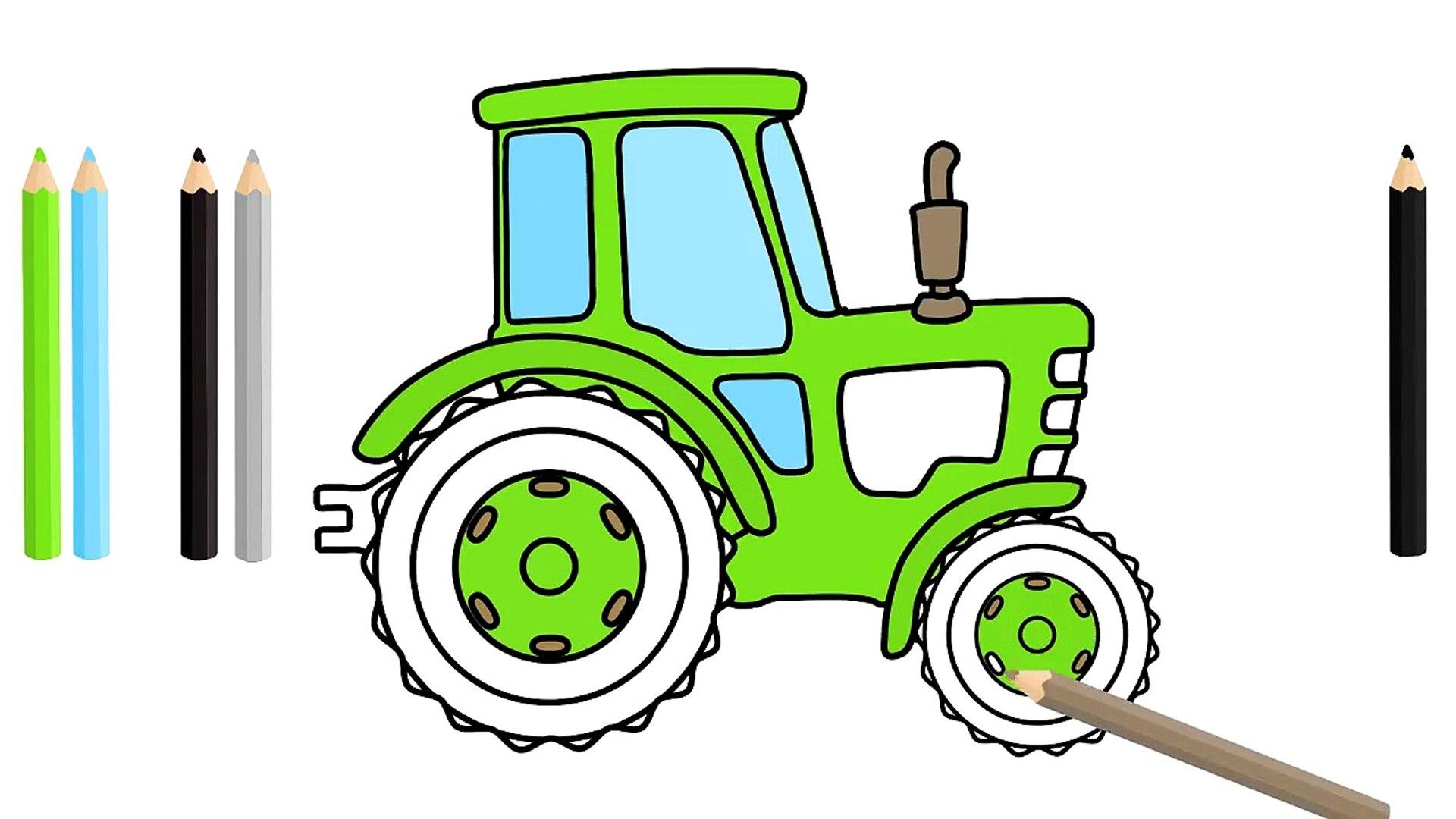 Les Tracteurs De Dessin De Labourer Le Terrain Animation Pour