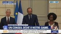 Des réductions d'impôts de 75% et de 66% pour les dons des particuliers destinés à la reconstruction de Notre-Dame, annonce Edouard Philippe
