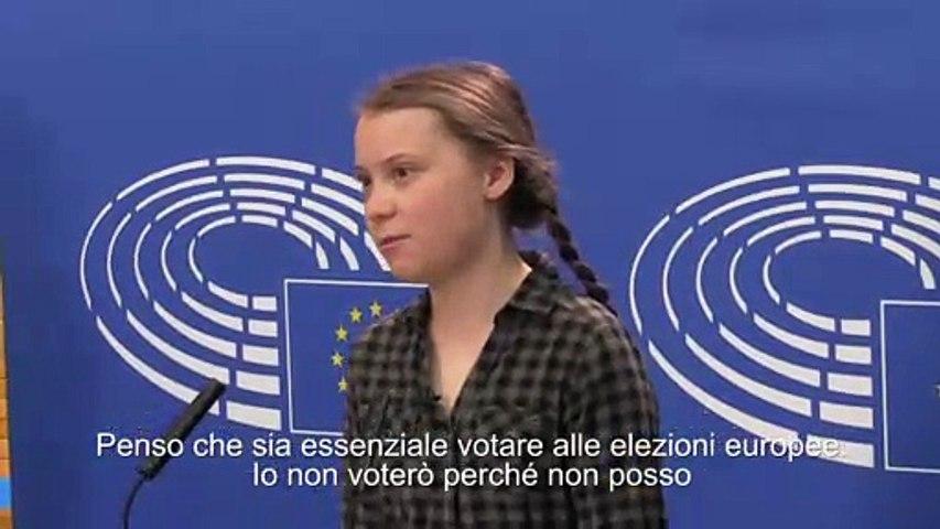 """Greta, """"essenziale votare alle europee"""""""