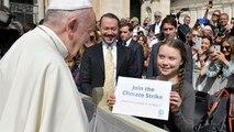 Au Vatican, Greta Thunberg remercie le Pape pour son engagement pour la planète