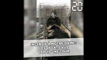 Incendie à Notre-Dame: Une vidéo prise par un pompier depuis une des tours montre l'étendue des dégâts sur la toiture