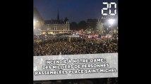 Incendie à Notre-Dame de Paris: Des milliers de personnes rassemblées place Saint-Michel