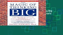 [MOST WISHED]  The Magic of Thinking Big (A fireside book) by David Joseph Schwartz