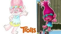 How To Draw Princess Poppy From Trolls fll mvie 2016 | DIY Drawing Kids Craft Ideas  Crafty Kids