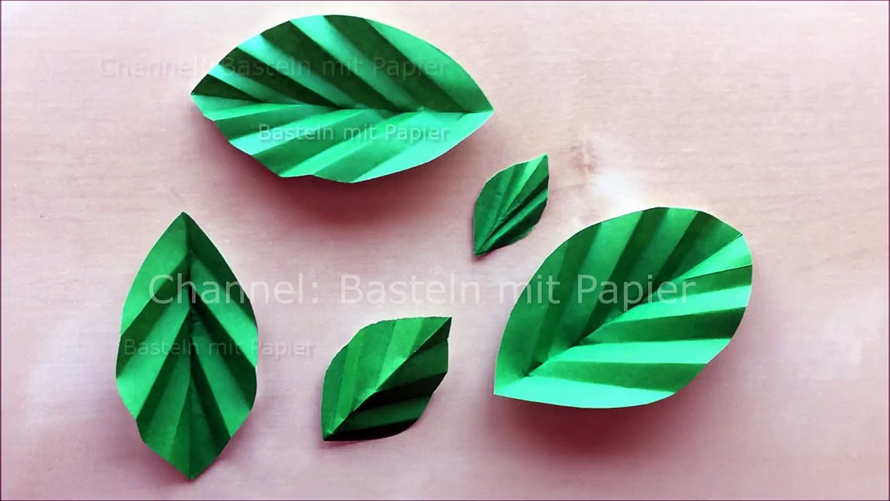Basteln Mit Papier Blätter