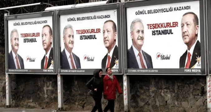 """Ekrem İmamoğlu'nun Mazbata Almasıyla, AK Parti'nin """"Teşekkürler İstanbul"""" Afişi İndirildi"""