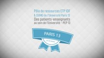 « Des patients enseignants au sein de l'université » Université Paris XIII