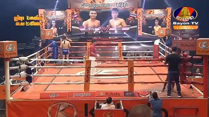 Meun Sophea, Cambodia Vs Thai, Pongsari, Khmer Boxing 12 April 2019, International Boxing, Kun Khmer Boxing | Godialy.com