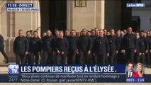 Notre-Dame: près de 300 sapeurs-pompiers arrivent à l'Élysée, où ils vont être reçus par Emmanuel Macron