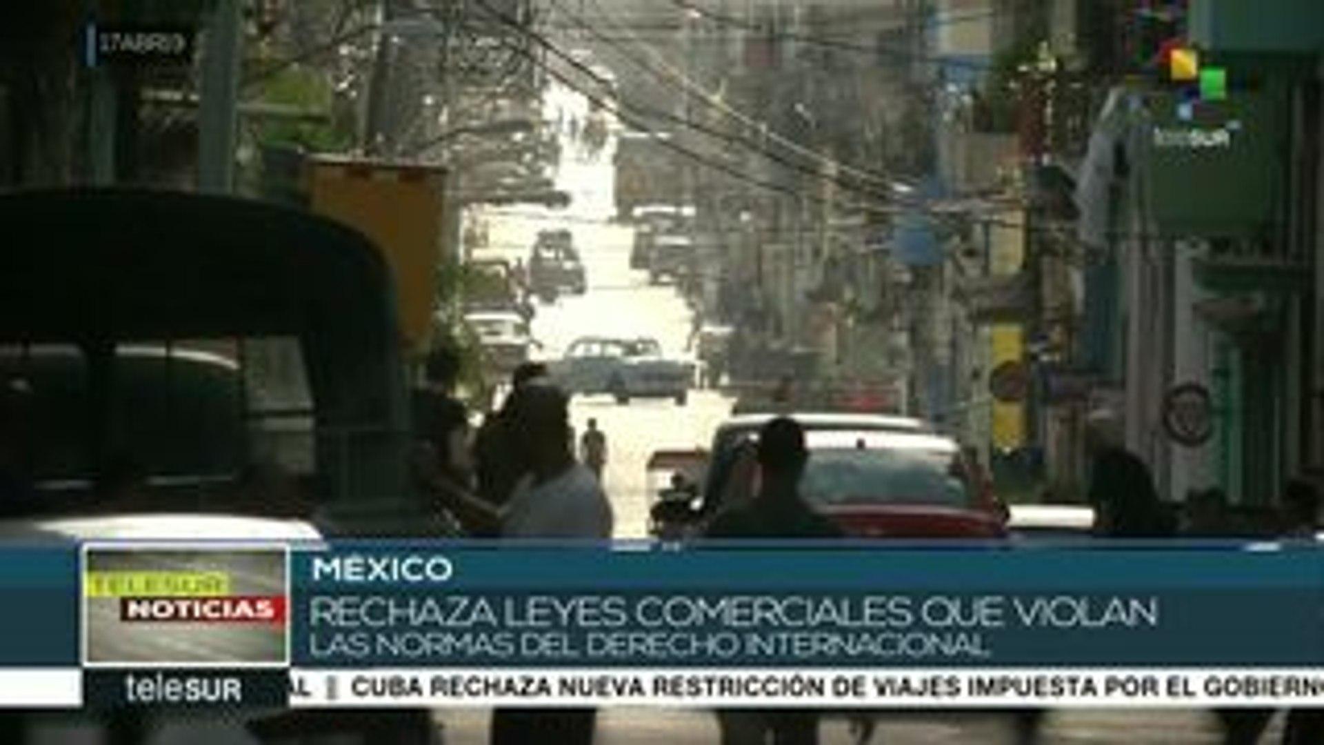 México lamenta que EEUU decida aplicar la Ley Helms-Burton contra Cuba