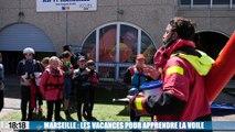 Les jeunes Marseillais apprennent à faire de la voile pendant les vacances
