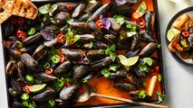 How to Make Sheet Pan Red Curry Mussels
