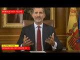 """El Rey de España acusa a Generalitat de """"deslealtad inadmisible"""" y garantiza la unidad de España."""