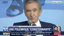 """Notre-Dame: Bernard Arnault (LVMH) juge """"consternante"""" la polémique sur ses 200 millions euros de dons"""