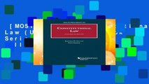 [MOST WISHED]  Constitutional Law (University Casebook Series) by Kathleen Sullivan (author)