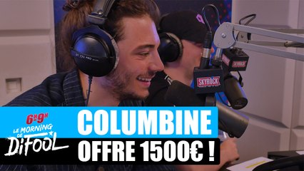 Columbine offre 1500€ à un auditeur ! #MorningDeDifool
